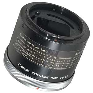 Canon Manual Focus EXTENSION TUBE FD50 Image 0