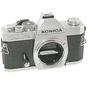 KONICA AUTOREFLEX T3N CHROME 35MM CAMERA BODY