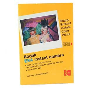 KODAK EK4 INSTANT CAMERA INSTRUCTIONS