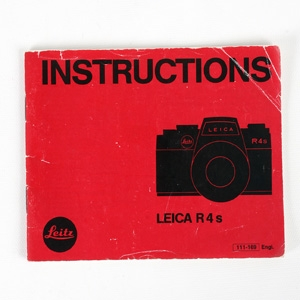LEICA R4S INSTRUCTIONS