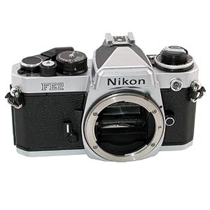 NIKON FE2 CHROME 35MM CAMERA BODY