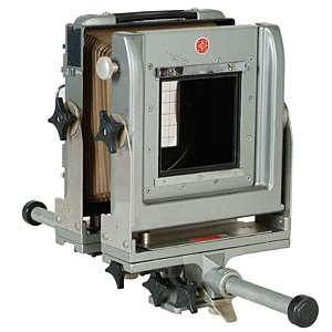 "CALUMET 4X5 CC400 GRAY WITH 16"" BELLOWS VIEW CAMERA BODY"