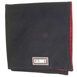 "Large Format LENS WRAP 19X19"" BLACK & RED CALUMET"