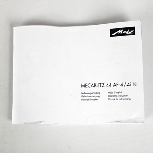 METZ 44 AF-4/4 N INSTRUCTIONS
