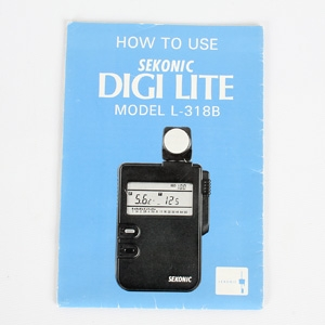 SEKONIC L-318B DIGI-LITE INSTRUCTIONS