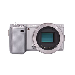 SONY NEX 5N SILVER DIGITAL CAMERA BODY {16.1 M/P}